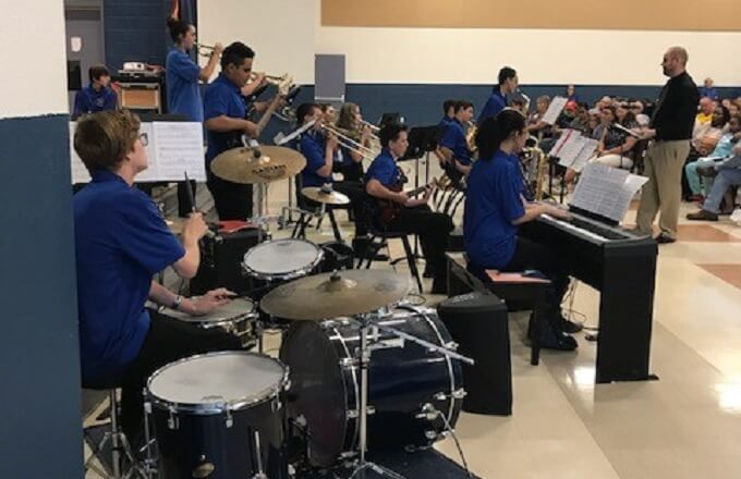 Combs Middle School Jazz Band Secures 1 of 6 spots in AZ Dept of Educ. Competition